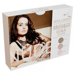 Brush & Go Gel & Lac Nude Collection Kit