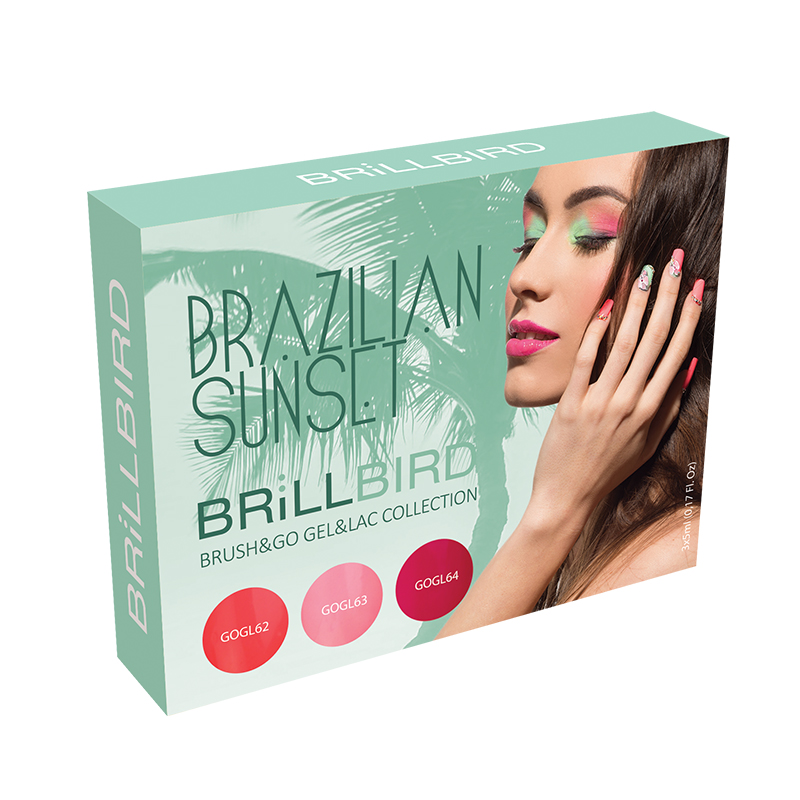 Brazilian Sunset Brush & Go Gel & Lac Collection