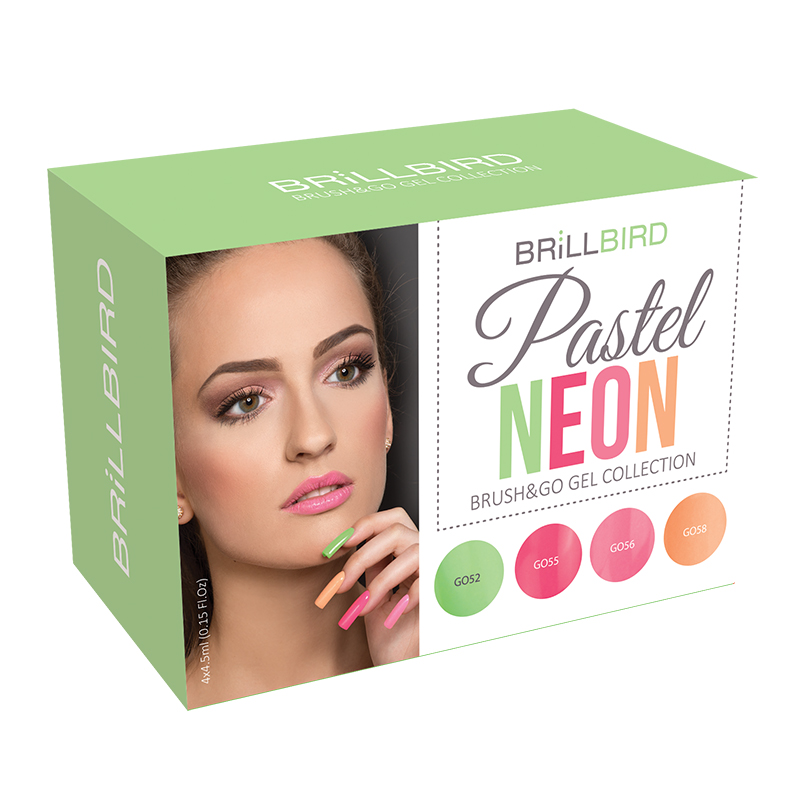 Brush & Go Gel Pastel Neon Kit